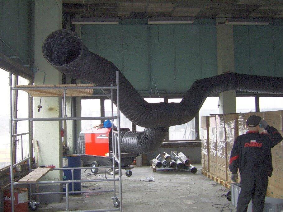Ogrzewanie hal przemysłowych